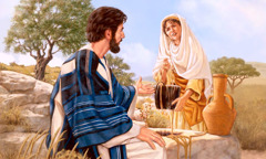 Makisarsarita ni Jesus iti Samaritana iti bubon