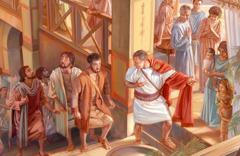 Petar ulazi u Kornelijevu kuću