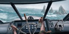 سفينة تنحرف عن مسارها بسبب بوصلة معطلة