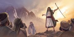 E levitanan ta reuní rònt di Moises na Seru Sinaí