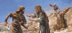 Kráľ Dávid hovorí Abišajovi, aby Šimeimu neubližoval