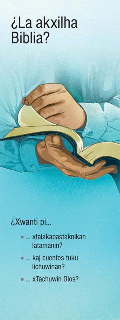 ¿La akxilha Biblia?