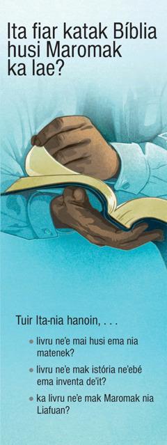 Ita fiar katak Bíblia husi Maromak ka lae?