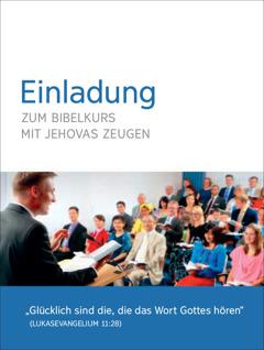 Einladung zum Bibelkurs mit Jehovas Zeugen