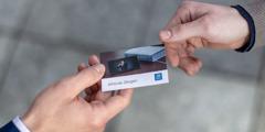 A contact card