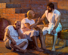 Joseph and the two men entrusted to his care are in prison