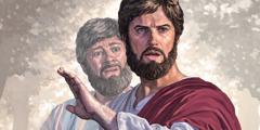 """Chúa Giê-su nói với Phi-e-rơ: """"Hỡi Sa-tan, hãy lui ra đằng sau tôi!"""""""