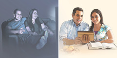 Un couple remplace les divertissements malsains par l'étude de la Bible