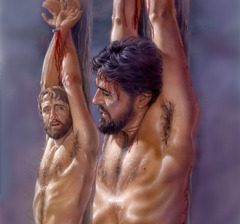 Jesus promises the criminal hanging next to him that he will be with him in Paradise