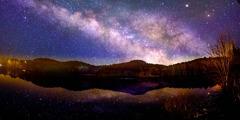 Langit malam yang penuh bintang