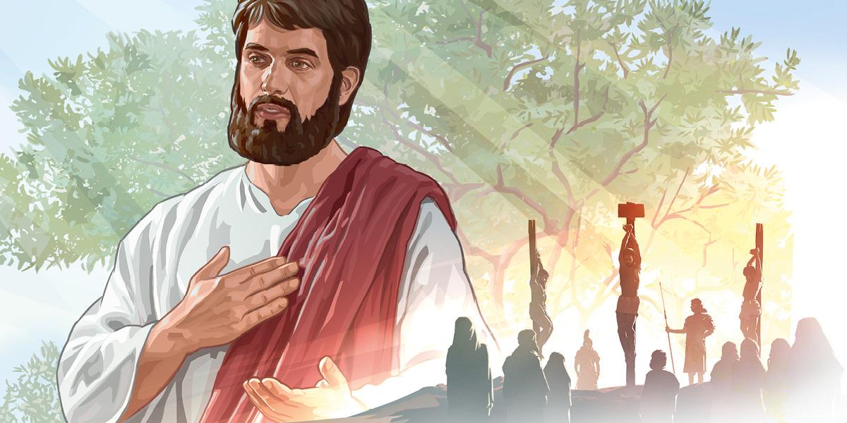 Jesús. Jesús colgado en el madero entre dos criminales
