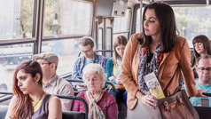 A sister on public transportation tries to imagine what a woman's life might be like before offering her a tract