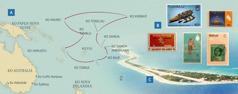 O mapa yi lekisa ovongende a Payne kupange woku nyula akongelo; Alitalatu a lekisa ovifuka vimue; ocifuka cimue ca posoka ko Funafuti ko Tuvalu