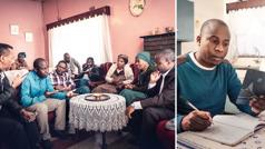 ایک بھائی جنازے کی رسومات پر تحقیق کرنے کے بعد اپنے غیرایمان رشتےداروں کو احترام سے اپنے عقیدوں کے بارے میں بتا رہا ہے۔