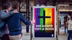 Une publicité d'une Église qui tolère l'homosexualité