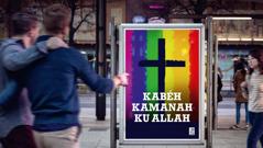 Iklan ti hiji garéja nu ngidinan homoséksualitas