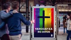 Advertisement ng isang relihiyon na kumukunsinti sa homoseksuwalidad