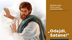 Ježíš říká Satanovi, aby od něj odešel