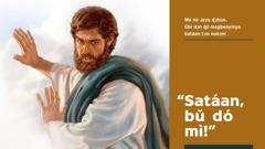 Jezu ɖò ɖiɖɔ nú Satáan wɛ ɖɔ é ni bú dó emi