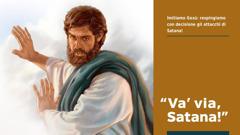 Gesù dice a Satana di andare via