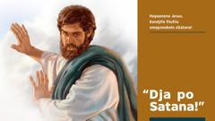 Jesus ta lombwele Satana a dje po