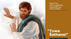 Yesu o vhudza Sathane uri a mu ṱutshele