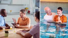 El mismo hombre acepta un curso bíblico; el hombre se bautiza