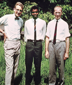 Manfred Tonak, Claude Lindsay, and Heinrich Dehnbostel in their missionary assignment in Lubumbashi, Congo, in 1967