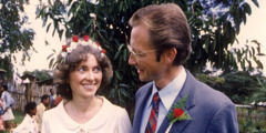 Manfred and Gail Tonak on their wedding day