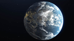 The earth as seen from outer space