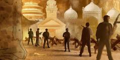 Soldados armados destruyen edificios religiosos