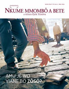 Nkume mmombô a bete, No. 1 2016 | Amu jé wo yiane bo zôsô?