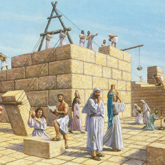 이스라엘 백성이 예루살렘 성전을 재건하는 모습