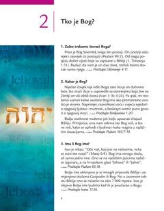 Drugo poglavlje u brošuri Dobre vijesti iz Božje Riječi