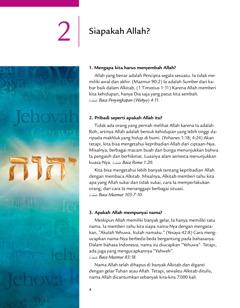 Pelajaran 2 dari brosur Kabar Baik dari Allah!