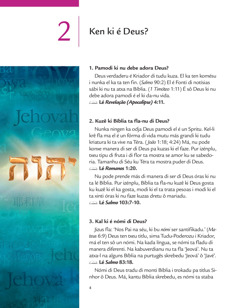Lison 2 na folhetu 'Notísias sábi di Deus pa bo!'