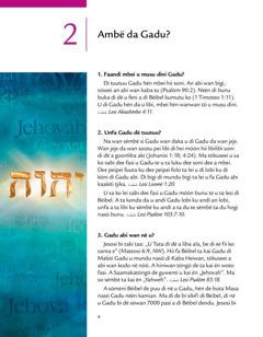 Woto 2 a di brochure Gadu abi bunu buka da u!