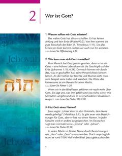 Lektion 2 in der Broschüre Eine gute Botschaft von Gott
