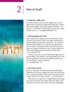 Lektion 2 i broschyren Goda nyheter från Bibeln!