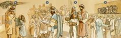 اسرائیلیان برای پرستش، دریافت تعالیم و برگزاری عید آلاچیقها طی ماه تیشری ۴۵۵ق.م. گرد هم میآیند