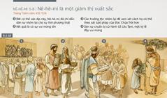 Dân Y-sơ-ra-ên nhóm lại để thờ phượng, nhận sự chỉ dẫn và cử hành Lễ Lều Tạm trong tháng Tishri năm 455 TCN