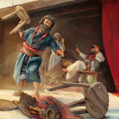 Nehemiah throws Tobiah's furniture out of a temple dining hall