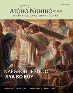 Atọ̀họ̀-Nuhihọ́ lọ Tọn, Sọha2 2016 | Naegbọn Jesu Do Jiya Bo Kú?