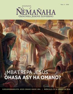 Rrevísta Ñemañaha, Núm. 2 2016 | ¿Mba'érepa Jesús ohasa asy ha omano?