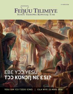 Feŋuu Tilimiye takayaɣ, No. 22016 | Ɛbɛ yɔɔ Yesu tɔɔ kʋñɔŋ nɛ ɛsɩ?