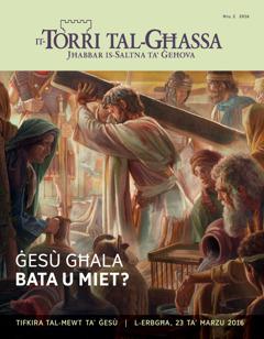 Ir-rivista It-Torri tal-Għassa, Nru. 2 2016   Ġesù għala bata u miet?
