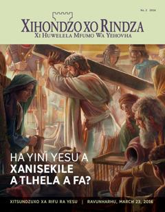 Magazini wa Xihondzo xo Rindza, No. 2 2016 | Ha Yini Yesu A Xanisekile A Tlhela A Fa?