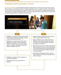 Să ne îmbunătățim deprinderile necesare în lucrarea de predicare – Pregătește propria prezentare a revistei