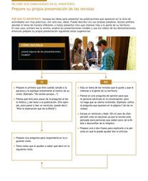 Mejore sus habilidades en el ministerio: prepare su propia presentación de las revistas