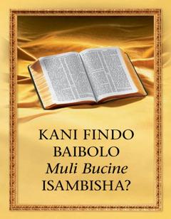 Kani Findo Baibolo Itusambisha?